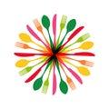 Cutlery Circle Shape Illustrat...
