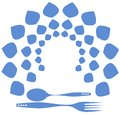 Cutlery logo Stock Photo