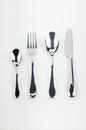 Cutlery set isolated on white background Stock Photos