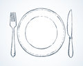 Cutlery. Vector drawing Royalty Free Stock Photo