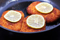 Cutlet fried crispy Stock Images