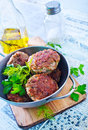 Cutlets in the metal bowl Royalty Free Stock Photos