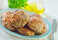 Cutlets on plate fried Royalty Free Stock Photo