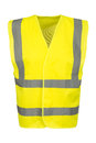 Cutout of Front of Yellow Safety Vest Royalty Free Stock Photo