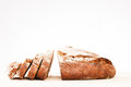 Cutted loaf of bread rustic home made Stock Photo