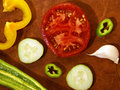 Cutted veggies Stock Photography