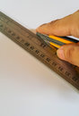 Cutter Ruler Paper Royalty Free Stock Photo