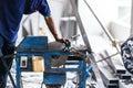 Cutting aluminium Royalty Free Stock Photo
