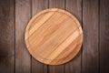 Cutting Board On Dark Wooden B...