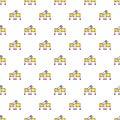 Cutting in half magic focus pattern seamless