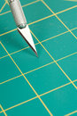Cutting Mat and Knife Royalty Free Stock Image