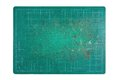 Cutting mat used green on white background Royalty Free Stock Photo