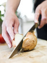 Cutting Onion Royalty Free Stock Images