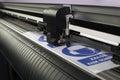 Cutting plotter machine vinyl sticker Stock Photos