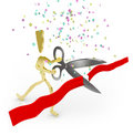 Cutting the Red Ribbon - Grand Opening Royalty Free Stock Image