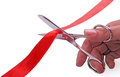 Cutting the ribbon Royalty Free Stock Photo