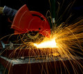 Cutting steel Royalty Free Stock Photo