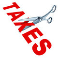 Cutting taxes Royalty Free Stock Photo