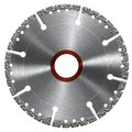 Cutting wheel frontal shot of a diamond studded in white back Stock Photos