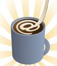 Cuvette de matin d'Internet Image libre de droits