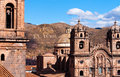 CUZCO, PERU: view of the main churches in the city Royalty Free Stock Photo