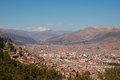 Cuzco with snow-capped mountain Royalty Free Stock Photo