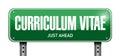 cv, curriculum vitae post sign concept