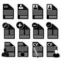 CV icons set