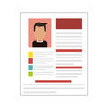 cv or resume related icons image