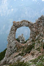 Cvrsnica mountain natural ring form called hajducka vrata on in bosnia and herzegovina Royalty Free Stock Photo