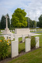 Cwgc mons commonwealth war graves commission cemetery at in belgium Royalty Free Stock Images