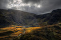 Cwm Idwal from Pen yr Ole Wen Royalty Free Stock Photo