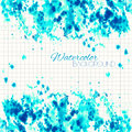 Cyan Blue Abstract Painted Background Royalty Free Stock Photo
