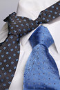 Cyan and blue neckties Stock Photo