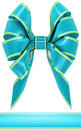 Cyan bow Royalty Free Stock Photography