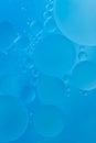Cyan bubble background