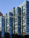 Cyan Buildings Royalty Free Stock Photo