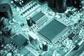 Cyan technological circuit Stock Image