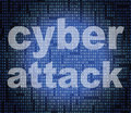 Cyber attack represents world wide web and criminal showing unlawful act Royalty Free Stock Image