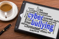 Cyber bullying word cloud Royalty Free Stock Photo