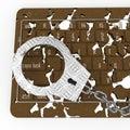 Cyber crime abstract and conceptual composition Stock Photos