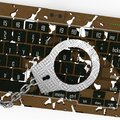 Cyber crime abstract and conceptual composition Stock Photography