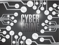 Cyber crime circuit illustration design over a black background Stock Photo