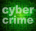 Cyber crime means world wide web and criminal indicating unlawful act Royalty Free Stock Photos