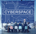 Cyber Cyberspace Connection Globalization Technology Concept Royalty Free Stock Photo