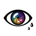 Cyber Eye Icon Royalty Free Stock Photo
