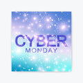 Cyber Monday Sale flyer design template. Graphic abstract background communication.