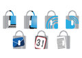 Cyber Security business icons Royalty Free Stock Photo