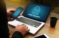 CYBER SECURITY Business, technology,FirewallAntivirus Alert Prot