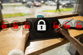 Cyber security, Data protection, information safety. technology business concept Royalty Free Stock Photo